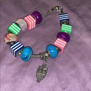 Claire's Accessories - owl charm bracelet